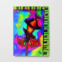 Nola Rose Street Lamp Metal Print