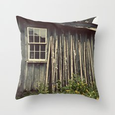 The Wood House Throw Pillow