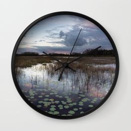Purple Poke Dots Wall Clock