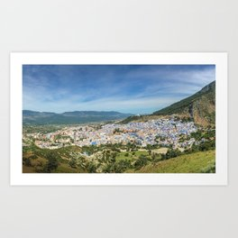 The town of Chefchaouen, Morocco Art Print