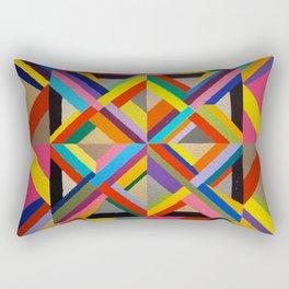 Multi Colour geometric abstract art Rectangular Pillow