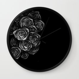 Roses Illustration Wall Clock