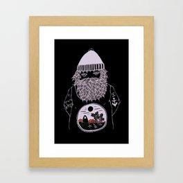 Ocean dreamer sailor Framed Art Print
