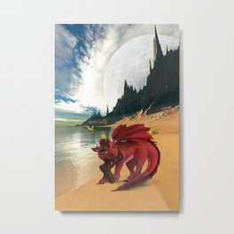 Dragonlings of Valdier: Amber Metal Print