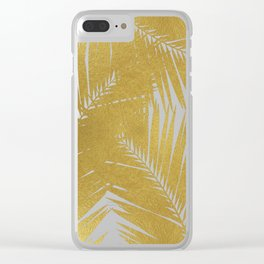 Palm Leaf Gold III Clear iPhone Case