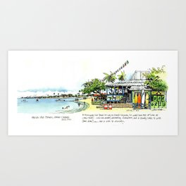 Calico Jack's, Grand Cayman (with notes) Art Print