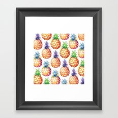 Fat Pineapples Pattern Framed Art Print