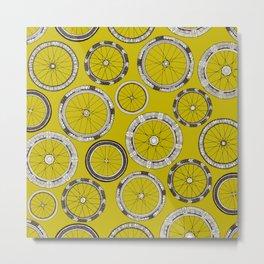 bike wheels chartreuse Metal Print
