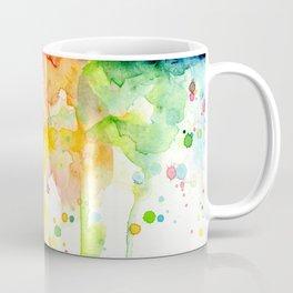 Rainbow Watercolor Pattern Texture Coffee Mug