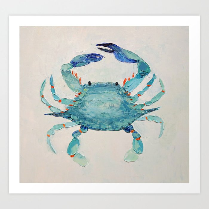 Atlantic Blue Crab Art Print