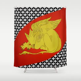 Maddy's Flag Shower Curtain
