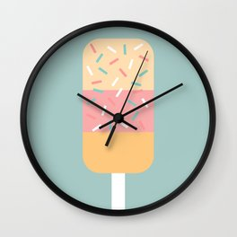 Popsicle (Mint) Wall Clock