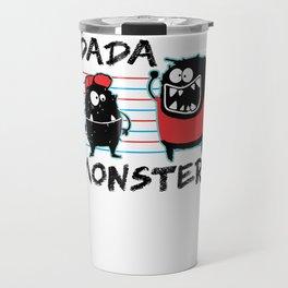 Dada Monster Cute Monster Cartoon for Kids and Dad Light Travel Mug