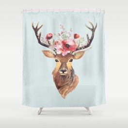 Bohemian Deer 2 Shower Curtain