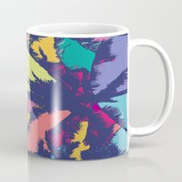 palm tree Mugs featuring Palm tree by PINT GRAPHICS