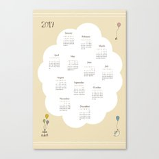 Tea Time - 2017 Calendar Canvas Print