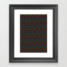 Arrows Pattern Color Framed Art Print