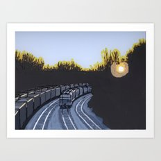 Trains Art Print