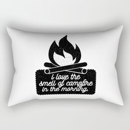I Love the Smell of Campfire in the Morning Rectangular Pillow