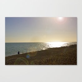 Spring Sunset by the Sea Canvas Print