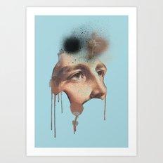 JESUS IN BLUE Art Print