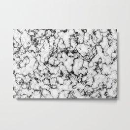 Black and White Stone Metal Print