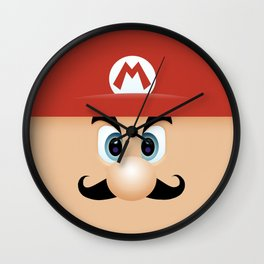 Mario With Cool Mustache Wall Clock