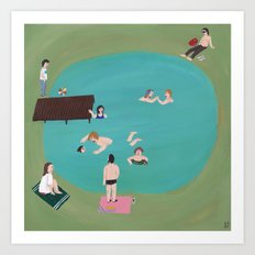 At the Quarry Pond Art Print