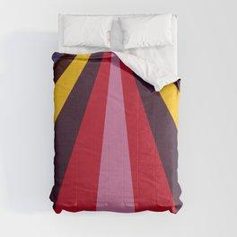 Modern halftone art multicolour prisma Comforters