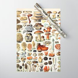 Adolphe Millot - Champignons A - French vintage poster Wrapping Paper