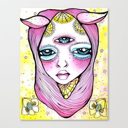 Mildred was Stuck Between Life and Death Canvas Print