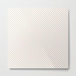 Mother of Pearl Polka Dots Metal Print
