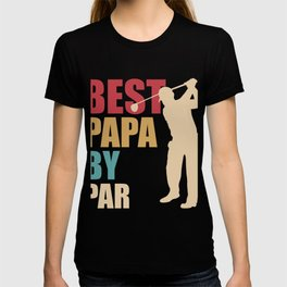 Best Father Dad Father's Day Golf Funny Gift T-shirt
