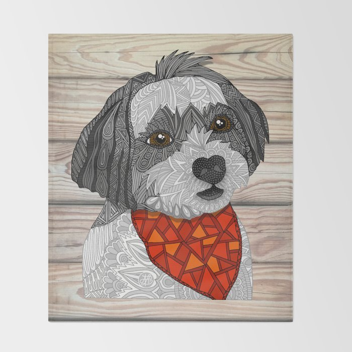 Max the Havanese Throw Blanket