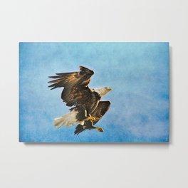 Landing Gear - Bald Eagle In Flight Metal Print