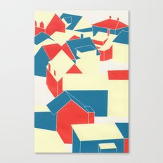 Icelandic houses Canvas Print