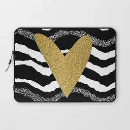 Heart on waves Laptop Sleeve