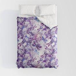 Dragonfly Lullaby in Pantone Ultraviolet Purple Comforters