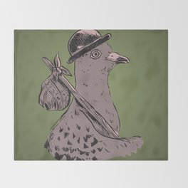 Hobo Pigeon Throw Blanket