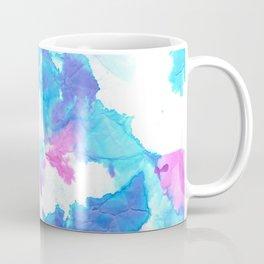 Tie Dye Pink, Blue and White Coffee Mug