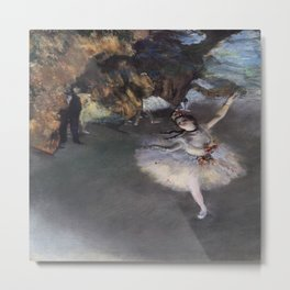 Edgar Degas's The Star, or Dancer on the Stage Metal Print