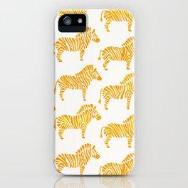 Zebras – Yellow Palette iPhone Case