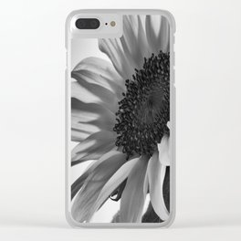 Sunflower Black & White Clear iPhone Case
