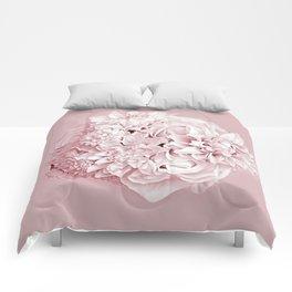 Blush Pink flowers Comforters