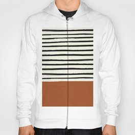 Burnt Orange x Stripes Hoody