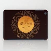 sun and moon iPad Cases featuring sun-moon by Vila Propuh