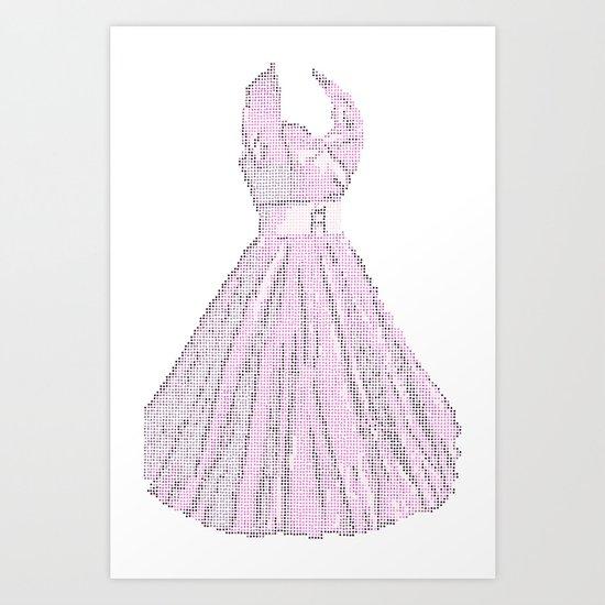 Dress white Art Print