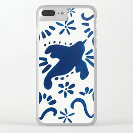 Bluebird of Happiness Clear iPhone Case