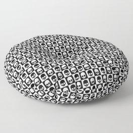 Checkered Skulls Pattern I Floor Pillow