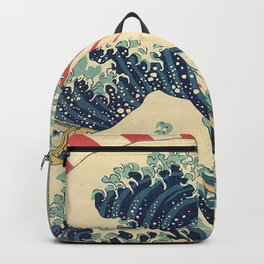 The Great Wave in Rio Backpack